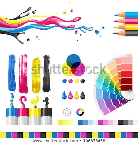 Ink Splash Cmyk Print Icon Vector Stock photo © mart