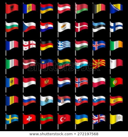 Stockfoto: Twee · vlaggen · Duitsland · Noorwegen · geïsoleerd