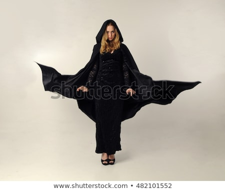 Imagem belo bruxa mulher Foto stock © deandrobot
