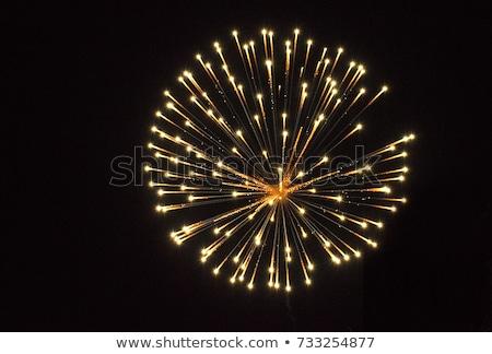 La exposición a largo fuegos artificiales negro cielo fiesta luz Foto stock © Frankljr