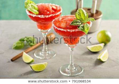 Strawberry margarita cocktail  Stock photo © dashapetrenko