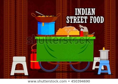 уличной еды изолированный белый продовольствие лет магазин Сток-фото © konturvid