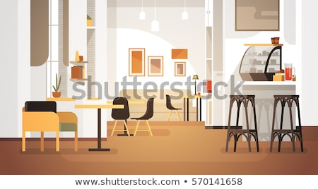 Bakery shop - modern vector flat design style illustration Stock photo © Decorwithme