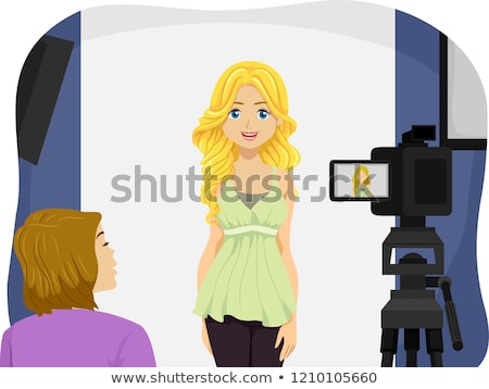Teen Girl Audition Illustration Stock photo © lenm