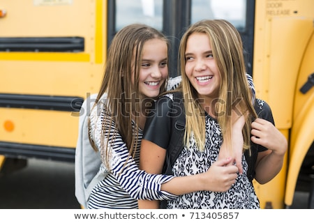 retrato · dos · estudiar · aire · libre · escuela - foto stock © Lopolo