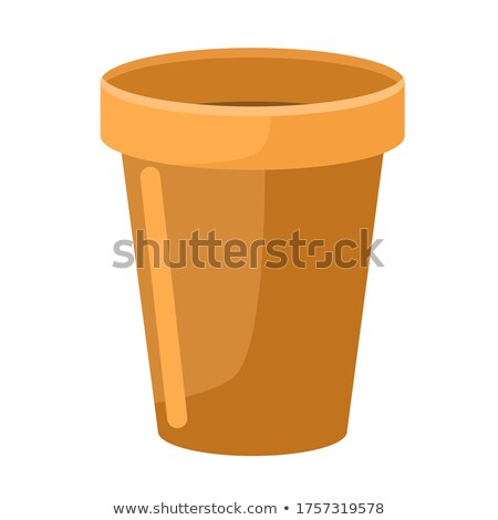 Houseplants in Vase and Flower Pot Isolated Vector Stock photo © robuart
