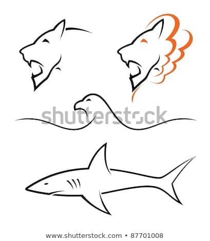 Ouro simples linha desenho dente ilustração Foto stock © Blue_daemon