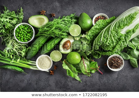 variety of green vegetables and herbs stock photo © marylooo