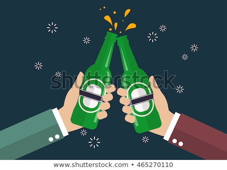 Hands Raising Toast With Beer Bottles At Bar Stock photo © AndreyPopov