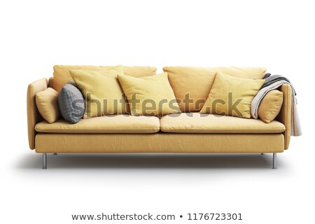 living room interior with fabric material white colour sofa blue stock photo © amok
