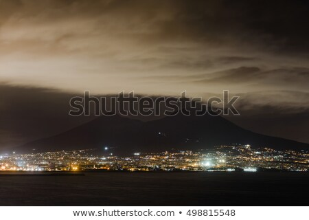 An volcano eruption on rainy night Stock photo © bluering