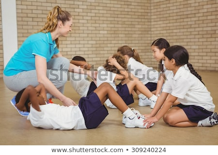 Student at physical education class Stock photo © colematt
