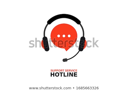 hotline · texte · portable · bureau · rendu · 3d - photo stock © mazirama