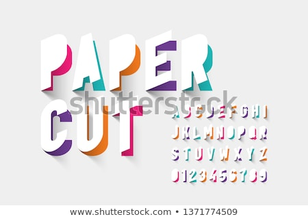 Colorful paper cut out font Letter A 3D Stock photo © djmilic