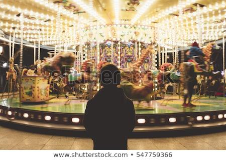 回転木馬 · フランス · 公園 · エッフェル塔 · パリ · 市 - ストックフォト © galitskaya