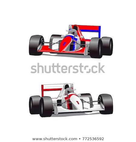 Vector cartoon formule 1 race auto geïsoleerd witte Stockfoto © mechanik