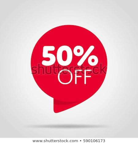 Prämie Ermäßigung bieten Verkauf Label Stock foto © robuart