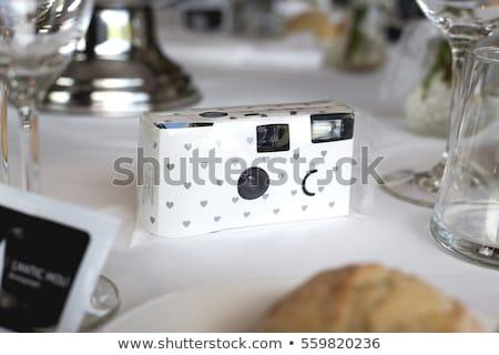 Tek kullanımlık kamera yalıtılmış beyaz film kutu Stok fotoğraf © homydesign
