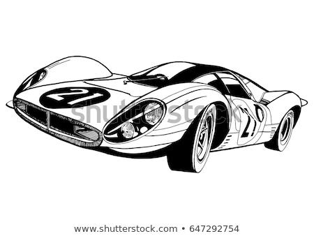 Vector cartoon sport race cars isolated on white Stock photo © mechanik