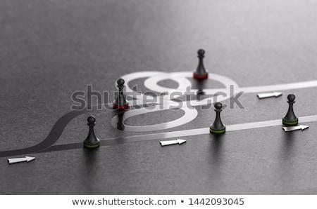 Választ legjobb út előre 3d illusztráció zöld Stock fotó © olivier_le_moal