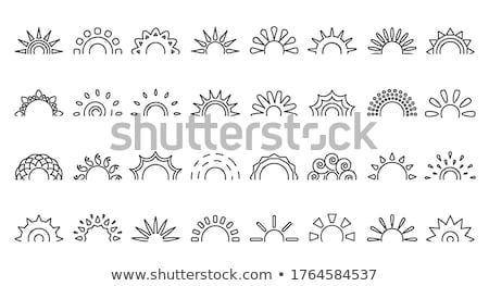 sun logo with different rays design template vector illustration isolated on white background stock photo © kyryloff