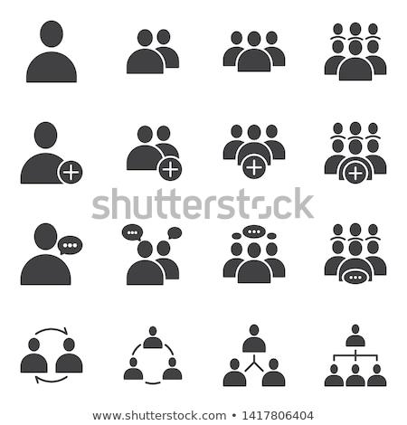 Usuário assinar vetor ícone isolado branco Foto stock © smoki