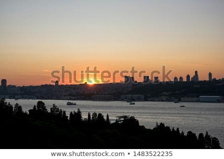 Boat at Bosphorus strait in Istanbul, Turkey Stock photo © boggy