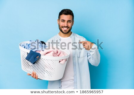 Man is proud of doing the chores Stock photo © Kzenon