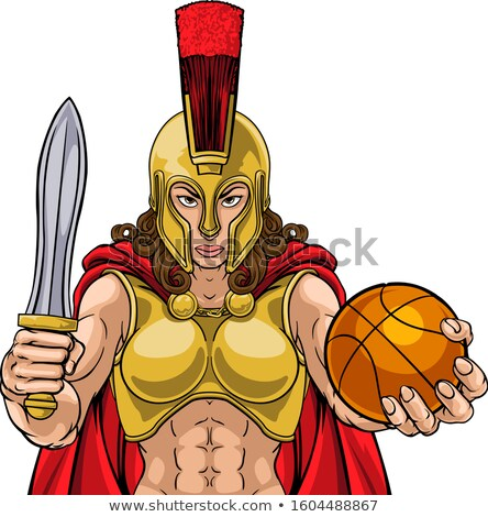 Espartano troiano gladiador basquetebol guerreiro mulher Foto stock © Krisdog