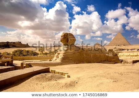 Sphinx and pyramid Stock photo © Givaga