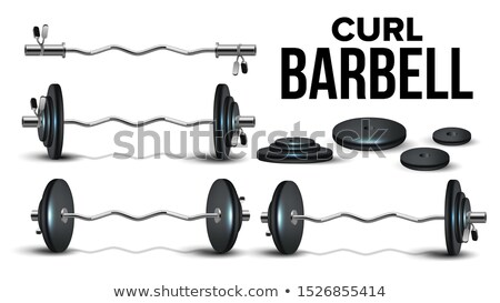 Curl Barbell Lifting Collapsible Kit Set Vector Stock photo © pikepicture