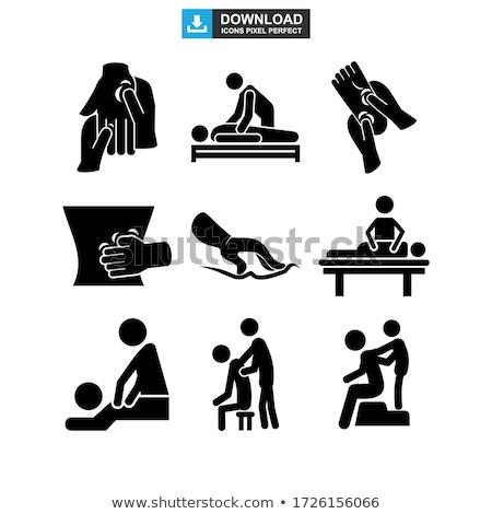 массаж Spa процедура расслабляющая человек вектора Сток-фото © robuart