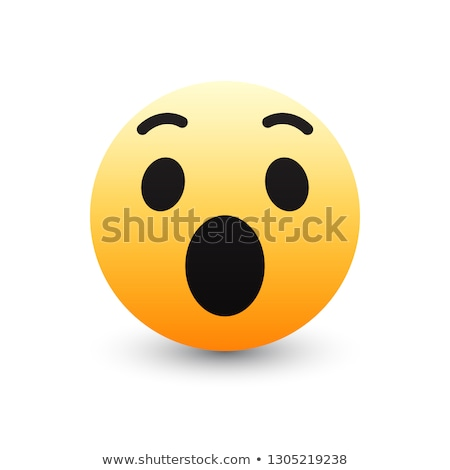 Meglepődött omg citromsárga 3D emotikon arc Stock fotó © cienpies