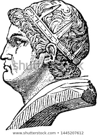 emperor Nero, vintage  illustration drawing Stock photo © doomko