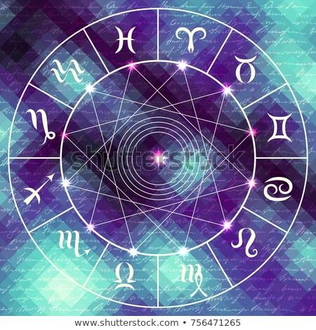 Astrologie teken mysticus aura universum magie Stockfoto © SwillSkill