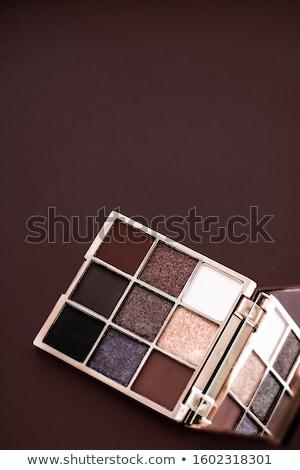 Szemhéjfesték paletta sminkecset csokoládé szem kozmetikai Stock fotó © Anneleven