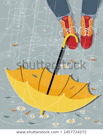 upside down girl in autumn background Stock photo © Lopolo