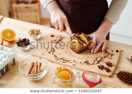 El yapımı sabun bar aromatik baharatlar turuncu Stok fotoğraf © pressmaster