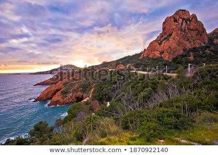 Stockfoto: Schilderachtig · kustlijn · middellandse · zee · zee · afdeling