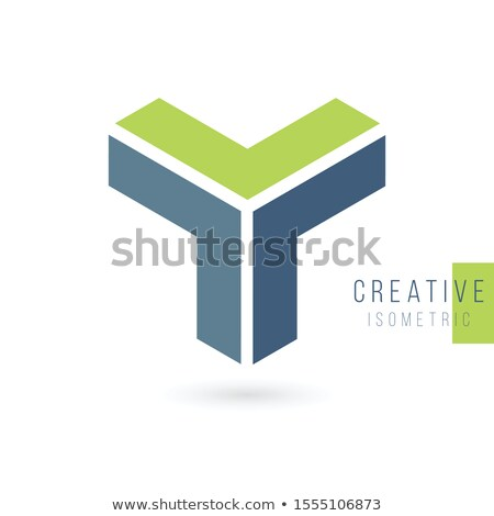 3D isometric letter Y logo Design Template. Stock Vector illustration isolated on white background. Stock photo © kyryloff