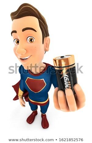 3D bateria ilustração isolado Foto stock © 3dmask