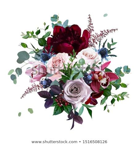 Báj luxus virágcsokor kék rózsák virágok Stock fotó © Anneleven