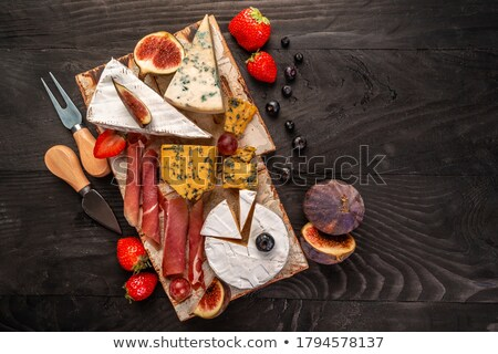 Banner vruchten toast Blauw rustiek Stockfoto © Illia