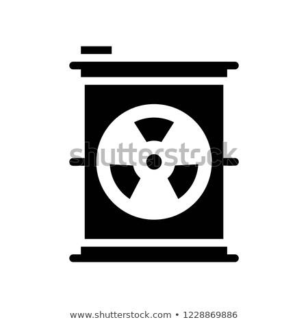 Radioativo vetor ícone isolado branco fundo Foto stock © smoki