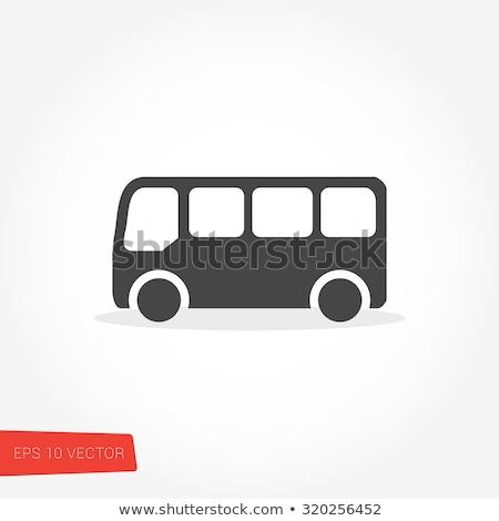 携帯 バス アイコン ベクトル 実例 ストックフォト © pikepicture