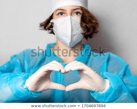 Ärzte Hände Erzeugnis Herz Symbol Zeichen Stock foto © lovleah