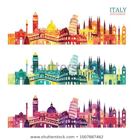 Abstract Rome Skyline with Color Landmarks. Stock photo © ShustrikS