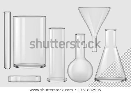 Zestaw inny odizolowany biały wody szkła Zdjęcia stock © DeCe