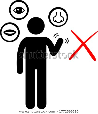 Impossible eye icon. Stock photo © almagami