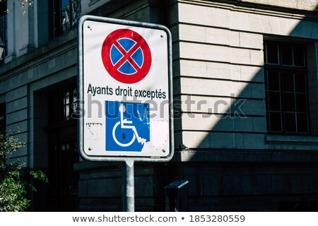 French wheelchair parking sign Stock photo © Hofmeester